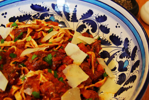 Muntjac Ragu with Fresh Tagliatelle