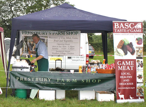 Charlie Lawson cooks up a storm at the Cheshire Showground Food Festival