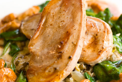 Fruity pheasant breasts