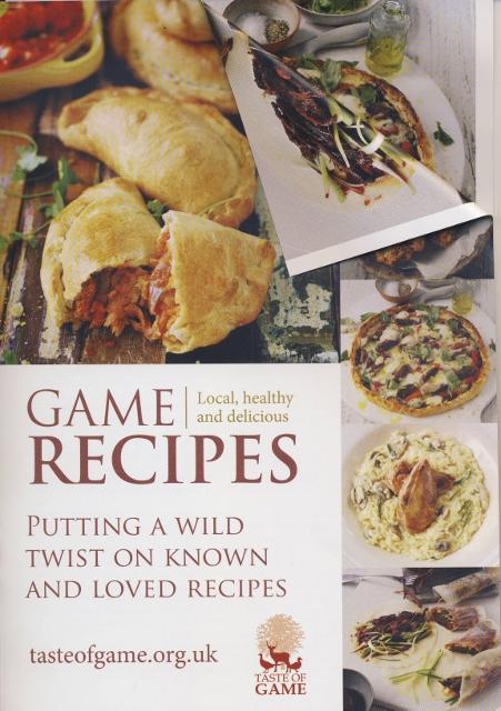 New Taste of Game recipe leaflet