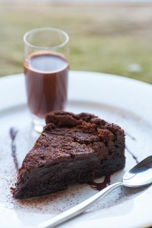 Brownies with Chocolate Whisky Milk Shake
