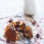 Double Chocolate – White chocolate fondant with a dark chocolate sauce