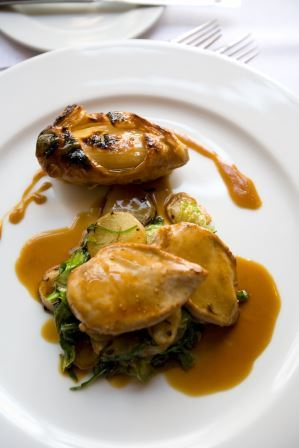 Braised partridge, onion tatin & Madeira sauce