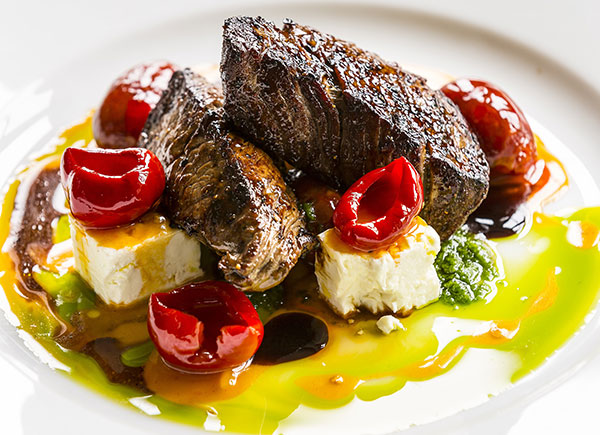 Loin of Venison with Feta Cheese