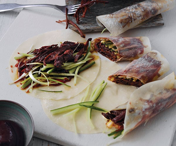 Chinese pancakes with aromatic pulled venison