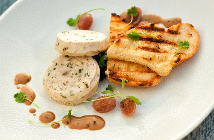 Warm Rabbit Mousse with Cream Sherry Sauce