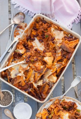 Venison Nacho Cheese Bake