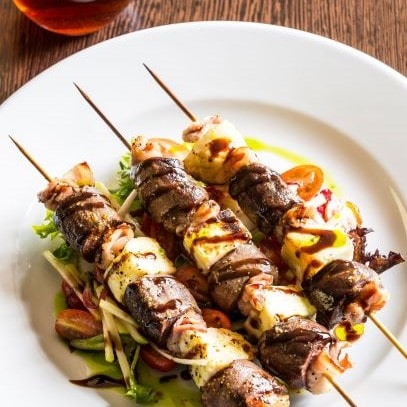 Hare and Halloumi Skewers