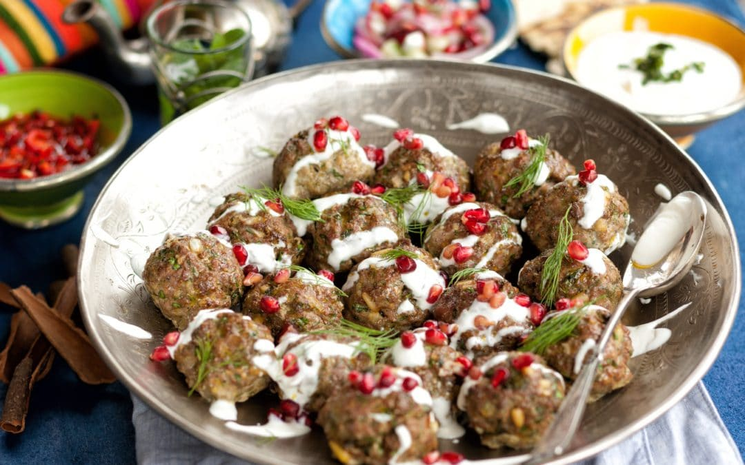 Persian Venison Meatballs with Yoghurt & Pomegranate